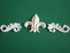 Decorative Resin Moulding - 2 Scrolls and a classic traditional Fleur De Lys