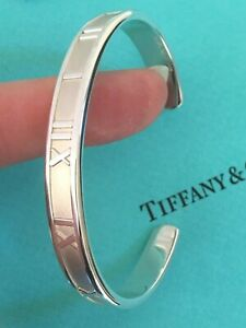 Tiffany & Co Sterling Silver Bracelet Solid Heavy Thick Atlas Cuff RRP £380