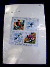 Vintage Bhutan 60th Anniversary Scouts Souvenir Sheet Stamps 1972 MNH #139A