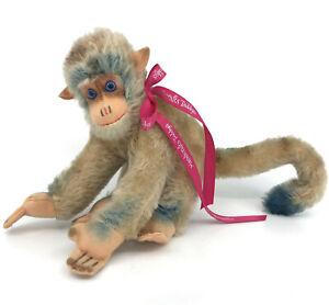 Hermann Germany Monkey Mohair Plush Squeaker 17cm 7in 1960s no ID Vintage