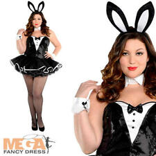 Sexy Playful Bunny Womens Hostess Fancy Dress Easter Halloween XL Ladies Costume