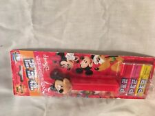 PEZ Dispenser MICKEY MOUSE Red Stem with Feet
