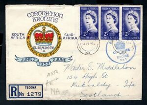 South Africa - 1953 QE2 Coronation Illustrated Registered First Day Cover