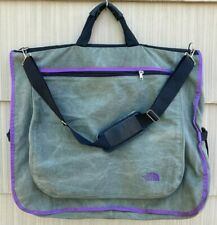 vtg THE NORTH FACE Garment Bag GRAY & PURPLE Carry-On Travel Duffel SUIT Rare