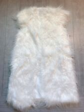 ZARA Women's Furry Waistcoat(White,  US  M/EUR M )
