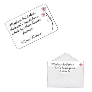 Personalised Mothers Hold Hands Keepsake Metal Wallet Card Mum Day Gift
