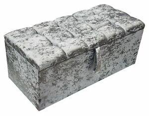 Stylish Storage Ottoman Box Diamente Footstool, Toys,  Blanket New