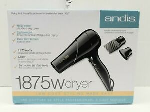 Andis 1875W Turbo Hair Dryer Black 80510 New