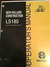 New Holland Skid Steer LS180 Owner Operator's Manual