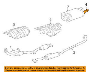 TOYOTA OEM-Exhaust System Tail Pipe Extension 1740846020