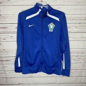 Mens Nike Blue Soccer Jacket Size M Magic Score Club athletic jacket