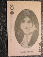C1920 Rare Mary Astor Silent Movie Actress Arcade Strip Playing Card