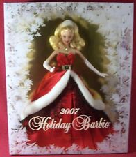 Mattel Holiday Barbie Collector Doll 2007 Red & White Christmas Gown MIB NRFB