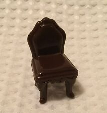 Fisher Price Sweet Streets Dollhouse Town House Brown High Back Dining Chair