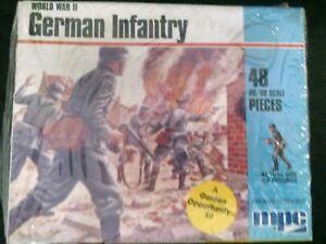 MPC HO/00 Scale World War II German Infantry Plastic Figure Kit #1-6001