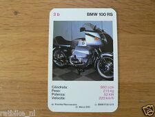 EASY RIDER 3B BMW R100RS 1000CC KWARTET KAART, QUARTETT CARD,SPIELKARTE