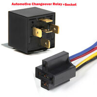 12V/24V 40A/80 AMP Automotive Car Truck 4/5 Pin Changeover Relay Switch