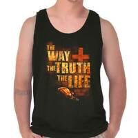 Jesus Way Truth Life Christian Religious Adult Tank Top T-Shirt Tees Tshirt