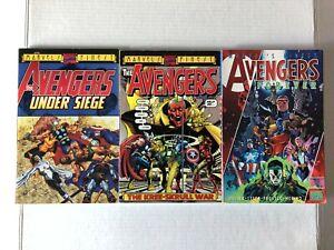Avengers Marvels Finest Under Siege+KreeSkrull War+Forever TPB/Graphic Novel Lot