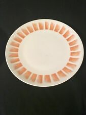 "Mikasa Chop Plate Platter Sunglo Elite 2 White Orange Bursts 12"" Narumi"