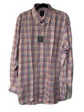 TailorByrd Purple//Cranberry Plaid Long Sleeve Shirt