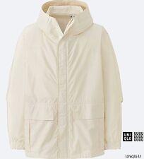 LEMAIRE 'U' x UNIQLO 'Cotton Poplin Parka' Men's Jacket OFF WHITE Medium **NWT**