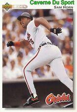 338 SAM HORN BALTIMORE ORIOLES BASEBALL CARD UPPER DECK 1992