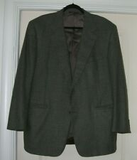 Men's Canali Gray Wool & Cashmere Windowpane Sport Coat 56R Made in Italy