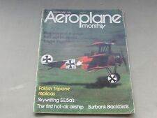 *LOOK* Vintage AEROPLANE MONTHLY Magazine March 1974 - Fokker, S.E.5a, Bristol