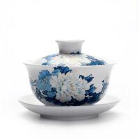 150ml porcelain teaware gaiwan for green tea tureen covered bowl handpainted lid