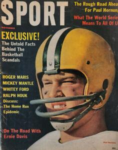 Sport Nov 1961 Vtg Football Magazine Ernie Davis Paul Hornung Mickey Mantle NoML