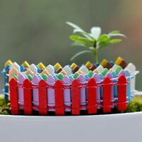 5pcs Wooden Mini Fence DIY Dollhouse Fairy Garden Decor Micro Landscape Ornament