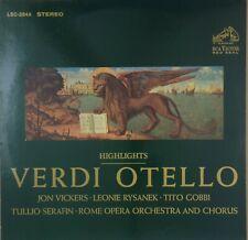 VERDI Otello Highlights 1965 RCA LSC-2844 2s,1s White Dog NM