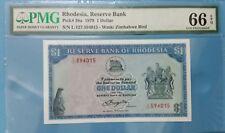 1979 Rhodesia 1 Dollar PMG66 EPQ <P-38a> GEM UNC