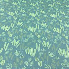Dolls House Wallpaper 1:12 Green Foliage Ferns Leaves