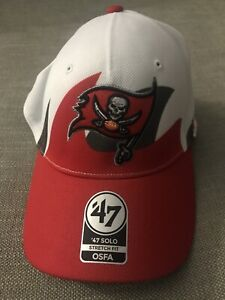 New With Tag NFL Tampa Bay Buccaneers '47 Solo Stretch Fit Hat RED WHITE