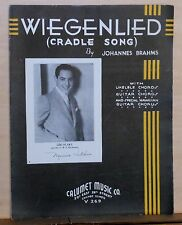Wiegenlied (Cradle Song) - 1935 sheet music - photo of Lou Blake of CBS radio