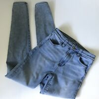AMERICAN EAGLE Womens Super Hi Rise Jegging Jeans Light Wash Stretch Sz 4 Long