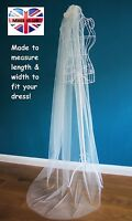 Wedding Veil *Floor/Chapel /Cathedral Length*Off White/Ivory*Cut Edge*