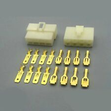 5Kits 6.3mm Car Connector 8P Male Female Electrical Plug Socket for Motorcycle