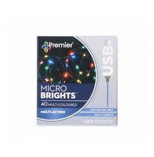 Premier: 40 USB Christmas Lights{Multicoloured}{4M LIT LENGTH}