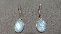 NWOT QVC 14k Gold Mother of Pearl Doublet Leverback Earrings - RETIRED & RARE!!!