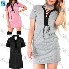 Mini Elastane, Spandex Spotted Dresses for Women