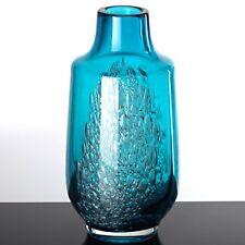 Glas Vase FLORIDA Heinrich Löffelhardt Schott Zwiesel 25 cm groß blau türkis