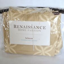 New RENAISSANCE BELMONT Ivory Reversible Loveseat Furniture Throw Slipcover