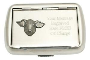 Pig Face Tobacco Tin Stainless Steel Personalised Smokers Gift 273
