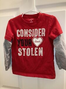Carters 3t Boys Consider Your Heart Stolen Top