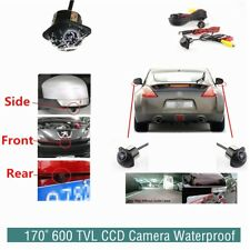 CCD Waterproof 12V Automobile Side 170° View Camera For Parking 600 TVL
