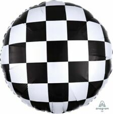 """Cars Racing Checkers Birthday Party Decorations Mylar Foil Balloon 18"""""""