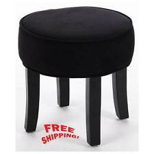 Dressing Table Vanity Stool Padded Seat Chair Modern Bedroom Black ...